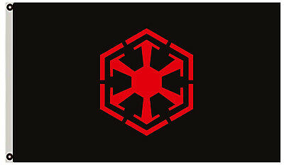 Galactic Empire Star Wars Flag True Sith Sect Black Landscape 3x5 Ft USA seller