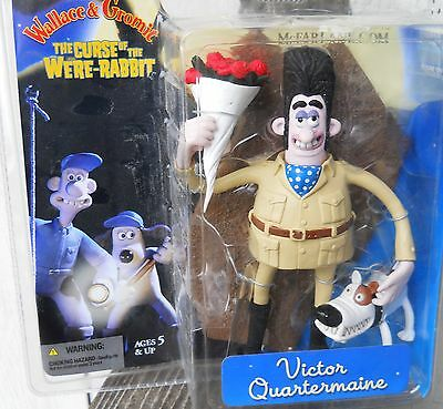 "New Wallace And Gromit  Curse Of The Were Rabbit Victor Quartermaine 7.5"" Figure"