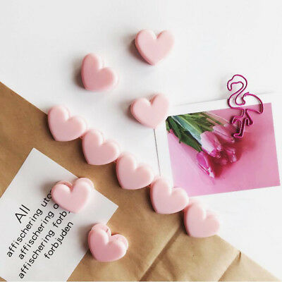 Hot 5 Pcs/lot Pink Love Heart Paper Clip Bookmark Office School Supplies Girlish