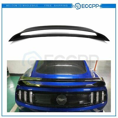 For Fits 2015-2019 Ford Mustang GT350 GT350R Style Trunk Spoiler Glossy ABS