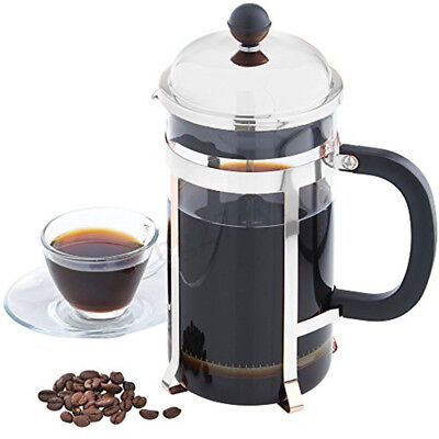 350ML Stainless Steel Glass French Press Pot Filter Cafetiere Tea Coffee   new