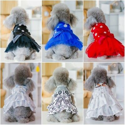 Cute Pet Dog Cat Tutu Lace DressPuppy Princess Boeknot Costume Apparel Clothes