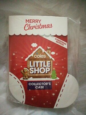 Coles Little Shop Christmas Edition Collectors Case Only - New. In Plastic
