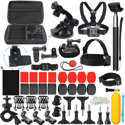 For GoPro Accessories Hero7/6/5/4/3 Bundle Camera Outdoor Sports Set Kit 58in1 b