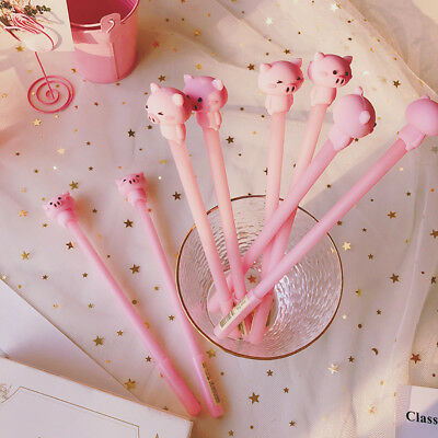 Novelty 1pc Cartoon Pink Pig Gel Pen Cute Stationery Kids Gifts Signature Pen