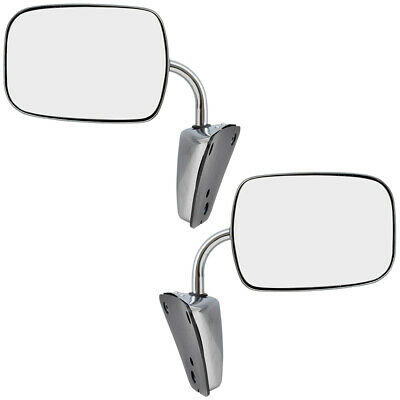 73-91 Chevy GMC Pickup Truck SUV Van Set Side View Manual Stainless Steel Mirror