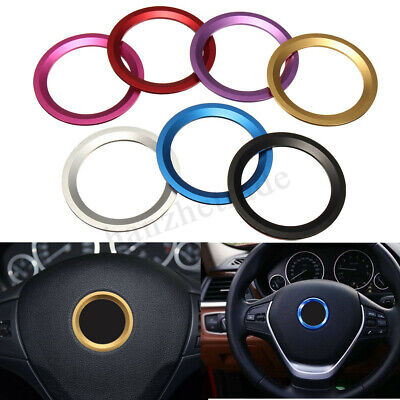 Car Steering Wheel Center Decoration Ring Cover Trim For BMW 1 3 4 5 7 Series