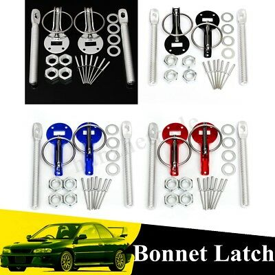 Race Drift Rally Flush Bonnet Hood Mount Latch Catch Pin Key Clamp Locking
