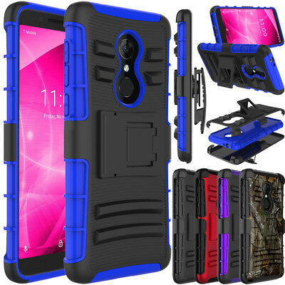 For Alcatel T-Mobile Revvl 2 Phone Case Hybrid Rubber Holster Hard Armor Cover