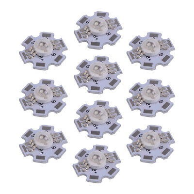 10pcs 3W RGB Color High Power LED Chip Light Lamp 6 Pin With Star Base