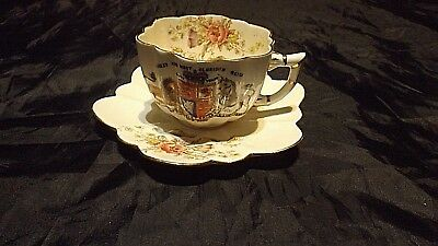 CW/WC, FOLEY CHINA, Antique China Cup & Saucer, Queen Victoria's 60th Year