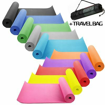 Yoga Mat EXTRA THICK 6mm 173cm x 61cm Non Slip Exercise/Gym/Camping/Picnic + bag