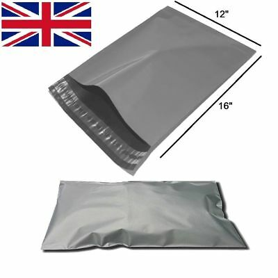 """A3 Size - 12"""" x 16"""" LARGE Grey Self Seal Mailing Bags Packaging Mailing Postage"""