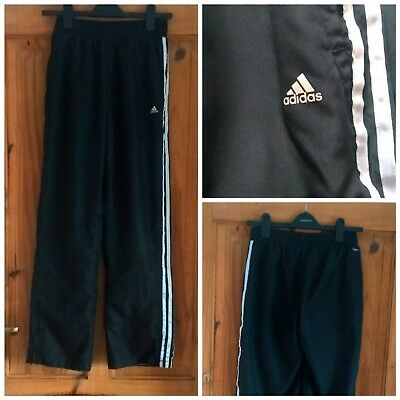 Vintage 90s style black Adidas tracksuit bottoms/pants. Unisex. UK 10. Grunge.