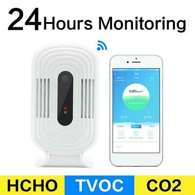 Wifi Air Quality Tester Smart Monitor Detector PM2.5 HCHO & TVOC & CO2 Analyzer