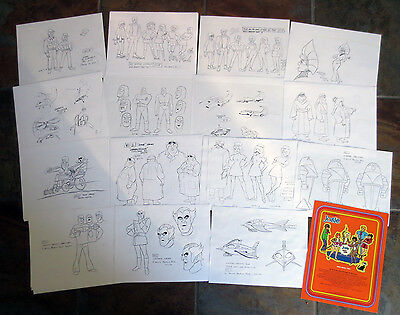 JOSIE AND THE PUSSYCATS Villains Monsters #1 ANIMATOR MODEL SHEETS Hanna Barbera
