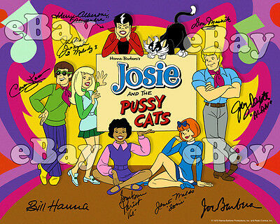 EXTRA LARGE! JOSIE AND THE PUSSYCATS Poster-Sized Photo HANNA BARBERA Signed