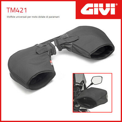 Handlebar Muffs/mittens Givi Tm421 Universal Motorcycle Featuring Hand Guards