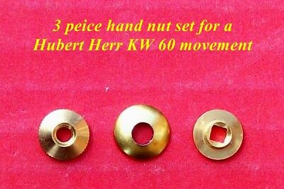 Hubert Herr,     cuckoo clock hand nuts,   3 pieces to suit the  KW 60 movement.