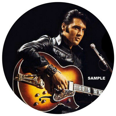 "Elvis Presley 68 Comeback Special High Quality  Vinyl Sticker 100Mm Round 4"" ,.."