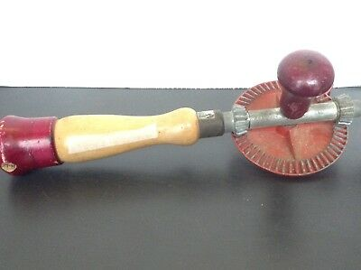 """VTG Wood And Metal Hand Drill Good Working Order 12.5"""""""
