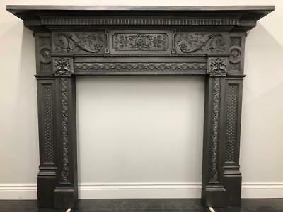 Fully Restored Original Antique Victorian Cast Iron Fireplace Fire Surround