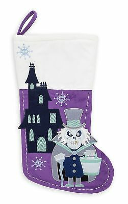 Disney Parks Store Haunted Mansion Hatbox Ghost Christmas Stocking Hitchhiking