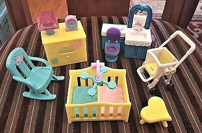 6pc DORA THE EXPLORER Doll House Furniture Access TALKING BATHROOM & END TABLE