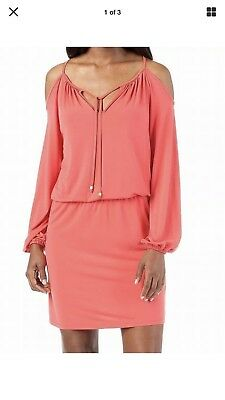 Michael Kors NEW Sangria Pink Womens Size S Blouson Shift Dress Retail $129
