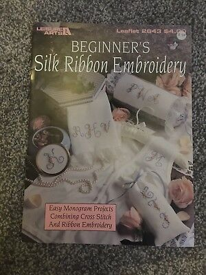 Leisure Arts Silk Ribbon Embroidery Leaflet 2643 Alphabet