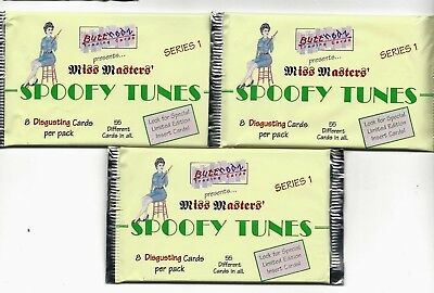 ButtHedz 1993 Miss Masters Spoofy Tunes Series 1...3  sealed packs  of 8 per pk