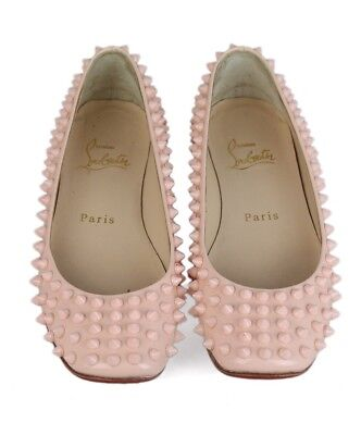 92dc0eae7fb Christian Louboutin Gozul Spikes Pink Patent Leather Shoes Flats Size Us 4.5