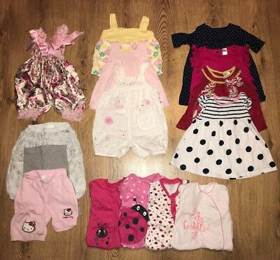 baby girl mixed clothing bundle job lot 3-6 months NEXT M&S HELLO KITTY