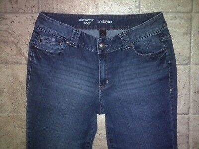 Womens LANE BRYANT DISTINCTLY BOOT Stretch Blue Jeans Measured Size 16 Avg x30