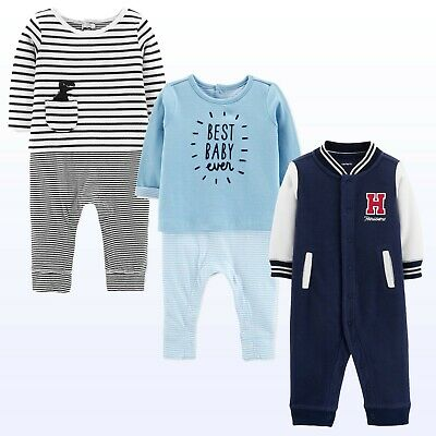 7a628c90a NWT CARTER S BABY Boys  One Piece French Terry Jumpsuit Romper 1 ...
