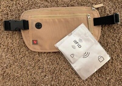 Travel Waist Wallet Money Belt with RFID Security Adjustable Strap Utopia Home