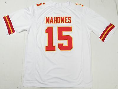 Patrick Mahomes #15 Kansas City Chiefs Unsigned Custom All-Sewn Jersey White