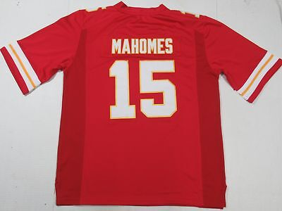 Patrick Mahomes #15 Kansas City Chiefs Unsigned Custom All-Sewn Jersey Red