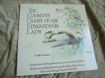 The Country Diary of an Edwardian Lady LP EX/EX  Edith Holden Spoken word RECORD