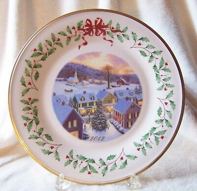 Lenox 2012 Annual Christmas Holiday Collector Plate 22nd USA NIB