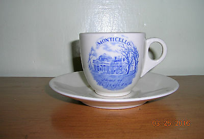 Vintage Collectible Monticello Cup and Saucer Shenango China Newcastle, PA