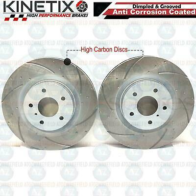 For Nissan 350 Z 3.5 Z33 280HP -06 Front Dimpled Grooved Brake Discs 324mm