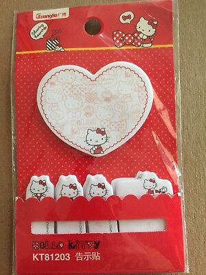 HELLO KITTY Sticky Notes Deluxe Kit CUTE! FREE Shipping!