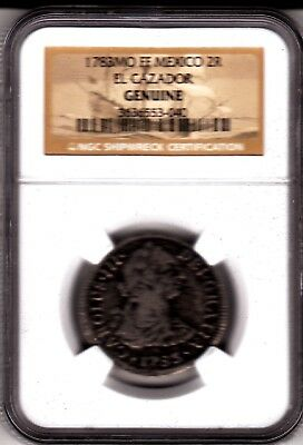 1783 MO FF Mexico 2 Reales El Cazador NGC Genuine Shipwreck Coin in Box