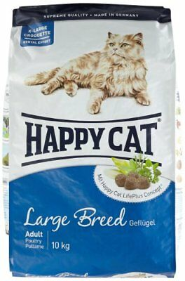 Happy Cat 43075 Fit/Well Large Breed Croquette pour Chat Adulte Grande (10 kg)