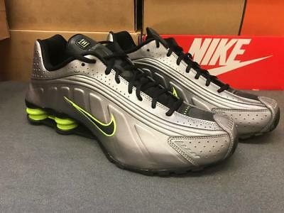 innovative design 60ffa 16fad ... italy mens nike shox r4 premium sneakers new silver lime green 104265  026 sz a8531 1e755