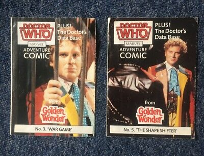 DOCTOR WHO GOLDEN WONDER MARVEL ADVENTURE COMICS No.4 & 5 of 6 1986
