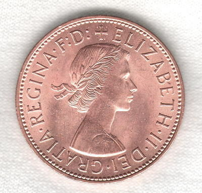 1962 QEII British Large Penny Stunning Red Brilliant Uncirculated