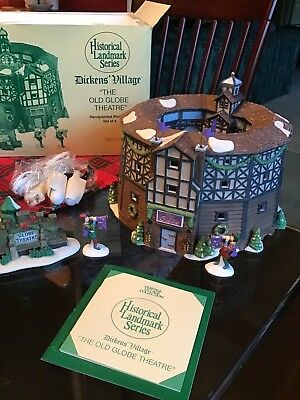 """Department 56 - Dickens Village - """"The Old Globe Theatre"""""""