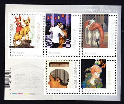 Canada MNH 2018 pane of 5 stamps Great Canadian Illustrators